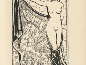 Frontispice de La belle Aude de Joseph Delteil réalisé par Germaine Caussignac