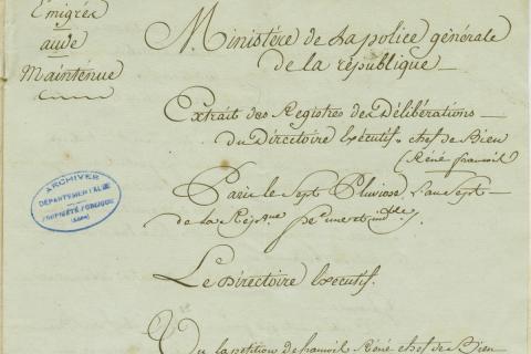 LES ATELIERS DE L'HISTOIRE : LES BIENS NATIONAUX
