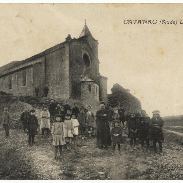 Cavanac, l'église années 20,  60 Dv 1/6