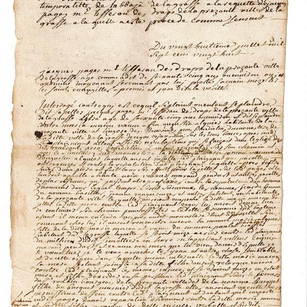 B 1495Procédure en matière criminelle, poursuivie à la requête de Jacques Pagès contre Marie Macou , page 1
