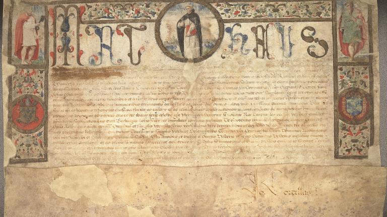 Rescrit cardinal Mathieu, XVe siècle