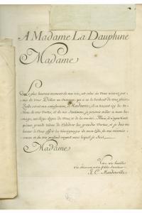 Dédicace de Daphnis et Acimadure à la Dauphine