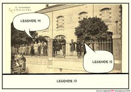 Ecole de Laurabuc  d'après la carte postale F°6/356