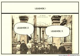 Ecole de Bram d'après la carte postale F°6/101