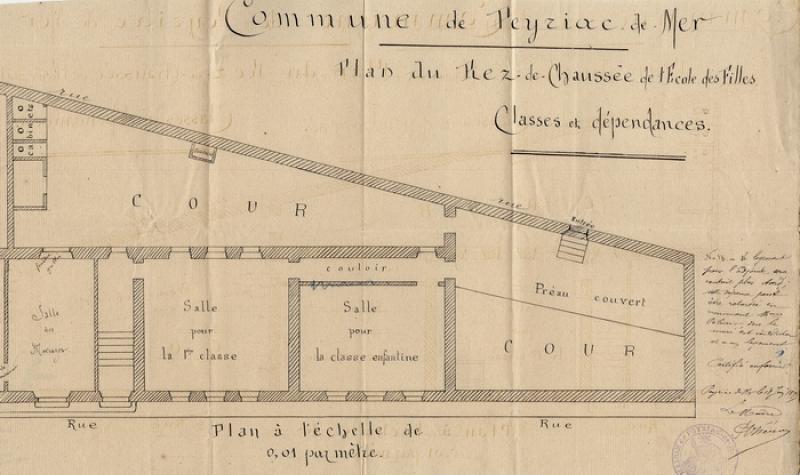 Plan de l'école de Peyriac-sur-Mer